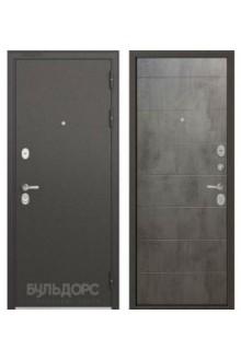Входная металлическая  дверь Бульдорс STANDART 90 бетон серый 9S-135