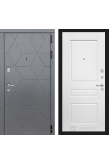 Входная металлическая дверь Лабиринт Cosmo 3 Графит-Белый софт