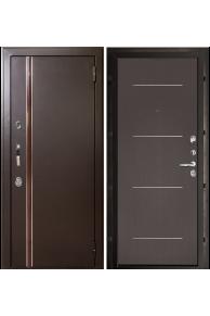 Входная  металлическая дверь с терморазрывом Норд муар коричневый (Лайт венге)