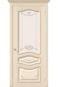 Межкомнатная шпонированная дверь Леона Деко ПО Д-15 Ваниль