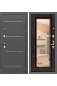 Входная металлическая дверь Groff P2-206 с зеркалом (Темная вишня)