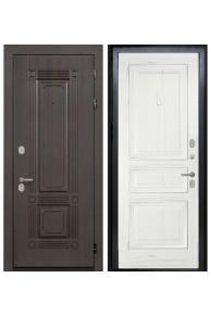 Входная  металлическая дверь Интекрон Италия-4 жемч. ясень ( шпон)