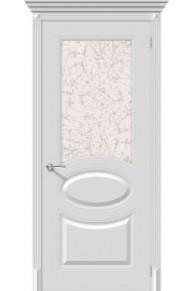 Межкомнатная окрашенная дверь Джаз по белый