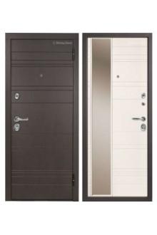 Входная металлическая дверь МетаЛюкс Статус М701.1 Дуб английский- Ясень кремовый
