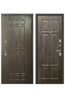 Входная металлическая дверь Бульдорс STANDART 90 дуб шоколад / дуб шале серебро 9S-109