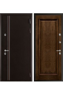 Входная металлическая дверь с терморазрывом Норд 2 муар коричневый (Тоскана/Дуб бренди)