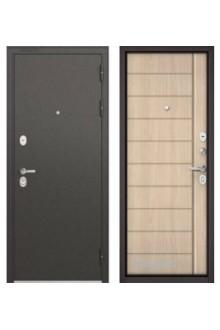 Входная металлическая дверь Бульдорс STANDART 90 ясень ривьера крем 9S-136