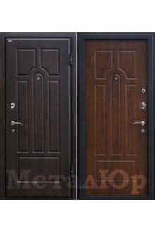 Входная металлическая дверь МеталЮр М5, темный орех