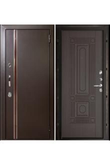Входная металлическая дверь с терморазрывом Норд муар коричневый (Чиж венге)
