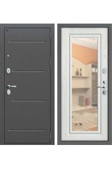 Входная металлическая дверь Groff P2-206 с зеркалом (Беленый дуб)
