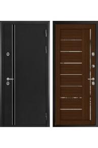 Входная дверь с терморазрывом Норд 2 (муар искра) Лайт 2110 Орех вельвет