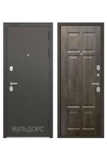 Входная металлическая дверь Бульдорс STANDART 90 дуб шале серебро 9S-109