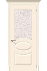 Межкомнатная окрашенная дверь Джаз по крем