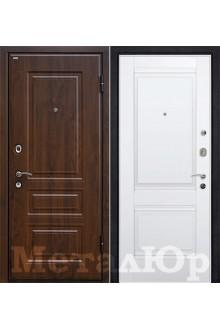 Входная металлическая дверь МеталЮр М9, темный орех