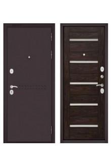 Входная металлическая дверь Бульдорс MASS 90 дуб темный СR-3 царга Lakabel Cristal