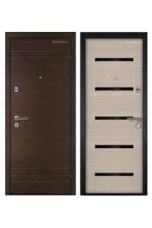 Входная металлическая дверь МетаЛюкс Триумф М16.1 Венге темный горизонтальный Премиум-Венге светлый горизонтальный Премиум