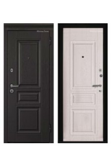 Входная металлическая дверь МетаЛюкс Триумф М601 Ясень черный-Ясень белый