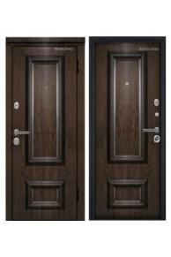 Входная металлическая дверь МетаЛюкс Элит М75.1 Дуб темный винорит-Дуб темный винорит (Улица)