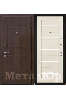 Входная металлическая дверь МеталЮр серия М7, отделка экошпон, эш вайт мелинга