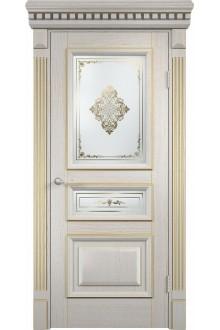 Межкомнатная дверь  Версаль патина золотая