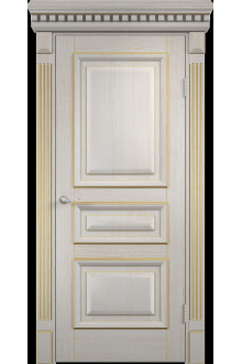 Межкомнатная дверь  Версаль патина золотая глухая