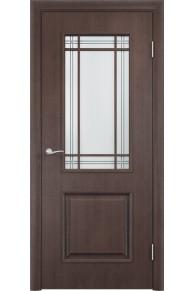 Межкомнатная дверь Тип С-20 венге Сатинато» c фьюзингом