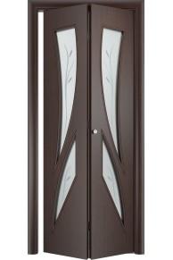 Межкомнатная дверь складная Тип С-02 венге