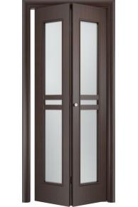 Межкомнатная дверь складная Тип С-23 венге