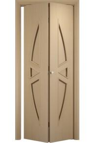 Межкомнатная дверь складная Тип С-01 беленый дуб