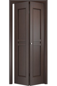 Межкомнатная дверь складная Тип С-23 венге глухая