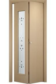 Межкомнатная дверь складная Тип С-21 беленый дуб (барокко)