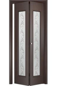Межкомнатная дверь складная Тип С-21 венге ( вьюн)