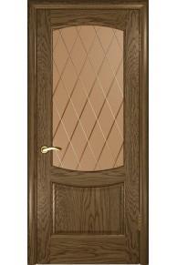 Межкомнатная дверь Лаура 2 (Св. мореный дуб, стекло)