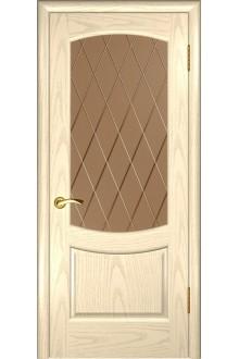 Межкомнатная дверь Лаура 2 (Слоновая кость, стекло)