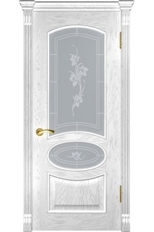Межкомнатная дверь Грация (ДО дуб белая эмаль)