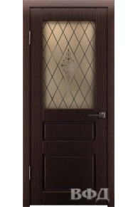 Межкомнатная дверь Честер ПО венге темный