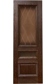 Межкомнатная дверь Фараон 2 дуб морёный
