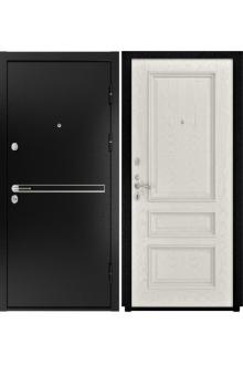 Входная  металлическая дверь Luxor- 4 ( Гера-2 дуб RAL 9010)