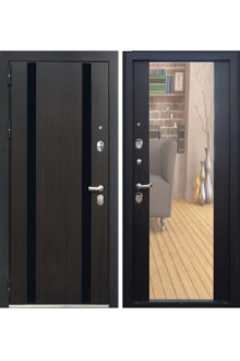 Входная металлическая дверь ЗЕТТА Премьер100 К2 венге- венге зеркало