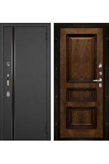 Уличная входная дверь с терморазрывом Норд  Муар искра Барселона / Бренди