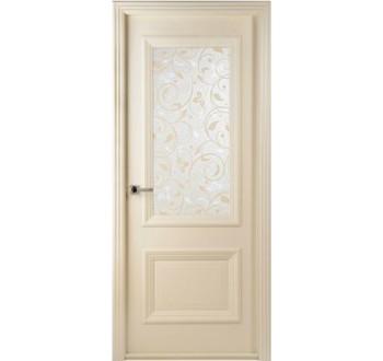 Межкомнатная дверь Франческо слоновая кость стекло