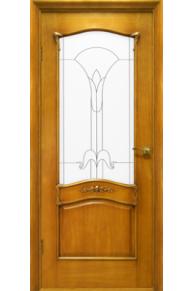 Межкомнатная дверь Янтарь стекло.