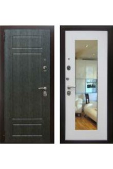 Входная металлическая дверь Зетта Комфорт 3 Б1 с зеркалом.