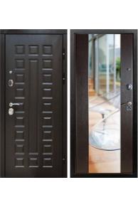 Входная металлическая дверь ZMD Премиум 183 Венге-Венге (Зеркало)