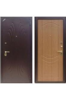 Входная металлическая дверь Зетта Комфорт 2 Б1 ВОЛНА дуб золотистый