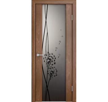 Межкомнатная дверь Кристалл  шпон американский орех