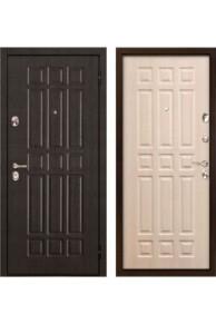 Дверь входная металлическая  Бульдорс 25 венге-беленый венге