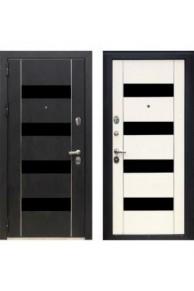 Металлическая дверь Зетта  ПРЕМЬЕР3 КБ1 F067 кора черная / F067 венге белый