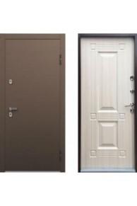 Входная металлическая дверь  с терморазрывом ТермоБУЛЬ белёный перламутр