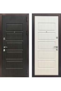 Входная  металлическая дверь Зетта Экстра 3 Венге / Дуб белёный